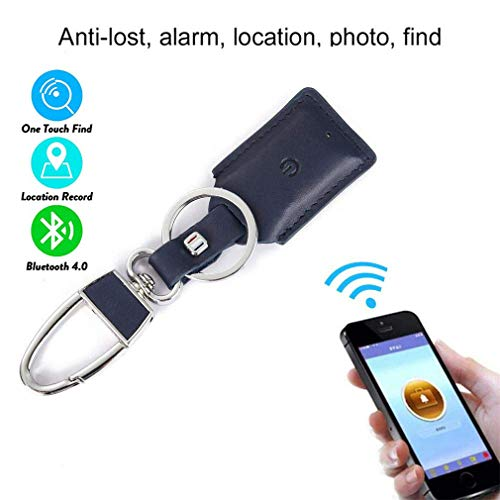 CARGPS Schlüsselsucher/Locator Bluetooth Smart GPS-Tracker/Wireless Anti-Lost Alarm-Handy Pet Finder Wallet Finder iOS/Android-App für verlorene Gegenstände,Blue