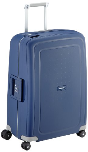 Samsonite S'Cure Spinner M Valigia, 69 cm, 79 L, Blu (Dark Blue)