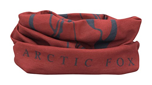 Red Fox Skull Face Multifunctional Seamless Bandana Scarf By Arctic Fox: Unisex Neck Warmer, Face Ski Mask For Outdoor Activities – Versatile Snood, Headband Or Wristband For Snowboarding, Hiking, Camping, Running