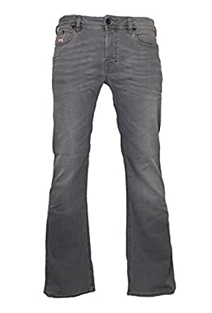 ece0c2f0153 Image Unavailable. Image not available for. Colour: Diesel Boot-Cut Stretch  Jeans Zathan R00G5 Grey Slightly Used Look ...
