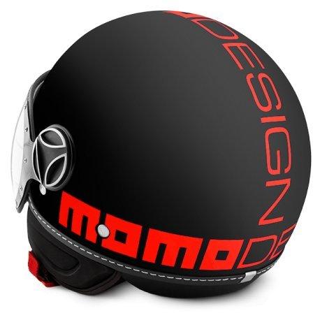 Casco Momo Fighter negro fr flúor naranja talla ML