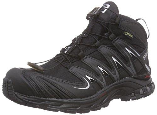 SalomonXA Pro Mid GTX - zapatillas de trekking y senderismo de media caña Mujer, Negro - Schwarz (Black/Black/Asphalt), 36