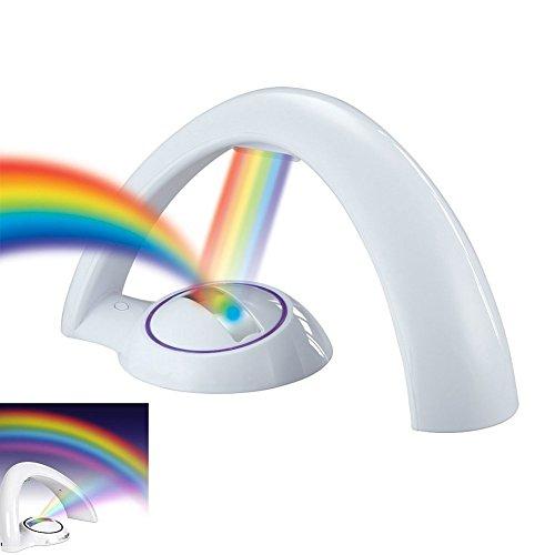 GuDoQi® Kinder Nachtlicht Regenbogen Projektor Nachttisch Licht Romantische Bunte Kindergarten Lampe Schlafzimmer Und Wohnzimmer Dekor Kinder Geschenk