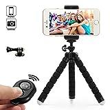 Dezuo 18cm Mini Trépied Flexible pour Smartphone, Caméra Compact, iPhone, Gopro...