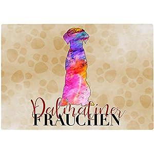 Cadouri Frühstücksbrettchen DALMATINER FRAUCHEN Glasschneidebrett Schneidebrettchen – 28,5 x 20 x 0,4 cm
