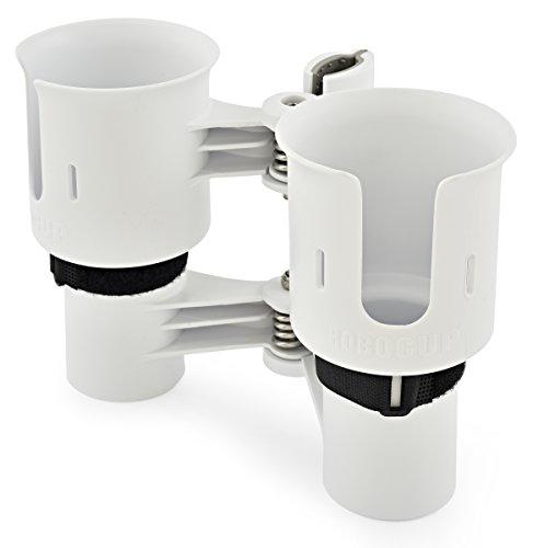 RoboCup 12colori, Best porta bicchiere per bevande, Canna da pesca/Pole, Barca, Sedia da spiaggia, Carrello da golf, Sedia a rotelle, Walker, bacchette, microfono stand, bianco - Clip Porta Rod