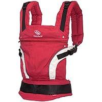 manduca Baby- und Kindertragen > Kollektion First < Das Original aus Hanf und Biobaumwolle Patentierte Rückenverlängerung Atmungsaktiv Rückenschonend Mitwachsend von 3,5 kg bis 20 kg (New Style / First, red)