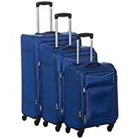 American Tourister Portland Softside Spinner Luggage set of 3pieces with TSA Lock - Blue