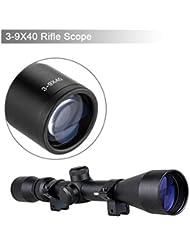 Miras Telescopicas Alcance (3-9x40mm, Alta Precisión y Porcentaje de éxitos), Negro