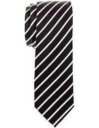 Retreez Thin Regimental Striped Woven Microfiber Skinny Tie - Various Colors