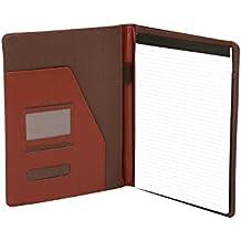 Cartera portafolios de estilo ejecutivo - Para documentos de tamaño A4 - Cuero abatanado - Marrón
