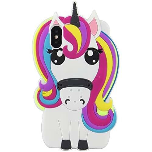unicornios kawaii eHenZ® TM carcasa diseño unicornio 3D, funda carcasa para iPad 2,3,4; iPhone 7,7+, 6,6+, 5...