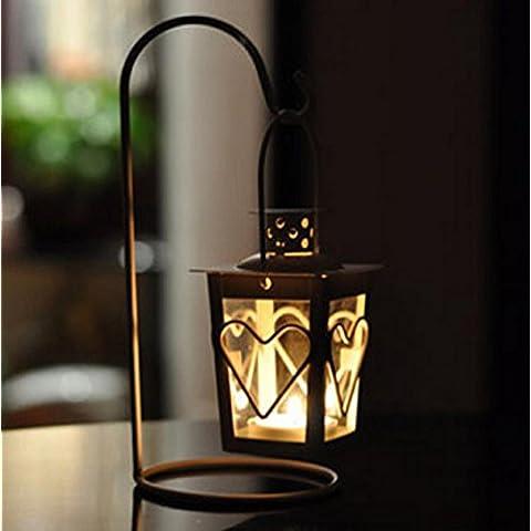 GYN Europea ferro Retro amore ornamenti candela