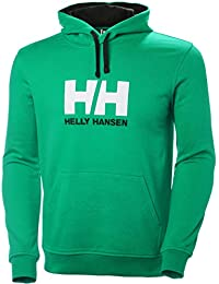 Helly Hansen Hh Logo Hoodie, Sudadera para Hombre, Verde (Verde 471),