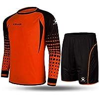 Kelme futbol portero de manga larga jersey de futbol Set traje  (Orange Black  a9d04abd22809
