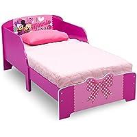 Preisvergleich für Delta Minnie Mouse Kleinkindbett aus Holz (Rot/Rosa)