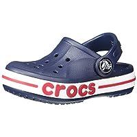 Crocs Baby Boys & Girls Bayaband Clog, Navy, 10 M US Toddler