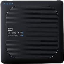 WD My Passport Wireless Pro - Disco duro externo portátil de 4 TB (con Wi-Fi AC, SD y USB 3.0)