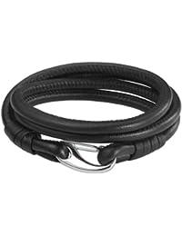 Rafaela Donata Unisex-Armband Edelstahl Leder 60907020