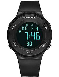 0745f88d7574 Relojes Pulsera Multifunción Calendario Mes Semana Alarma Digitale Relojes  Hombre Correa de Silicona Deportivo Moderno