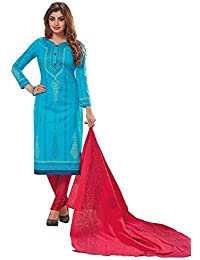 baalar Women's Dress Material(1524_Blue_Free Size)