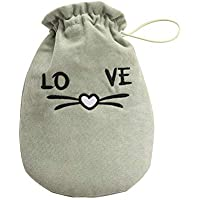 Lumanuby 1x 'Love' Katze Wärmflasche für Wärmespender an kalten Tagen, Doppelschicht Baumwolle Bezug und 0.35L... preisvergleich bei billige-tabletten.eu
