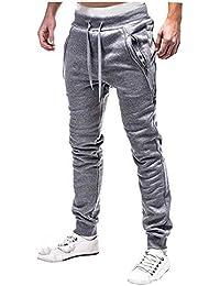 DOTBUY Hombre Pantalones Chándal Casuales Joggers Pantalones de Básico de  Entrenamiento de Gimnasia Suaves Transpirables Cómodo 3edcc79d2dba