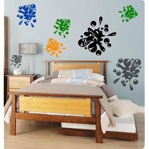 Vinile, decalcomania da parete attacca e stacca, motivo università,, paintball, decalcomanie decorative, 12