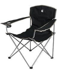 10T Quickfold Easy XL Campingstuhl robuster Klappstuhl mit Getränkehalter faltbarer Gartenstuhl mit Armlehnen bequemer Angelstuhl inkl. Packsack