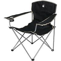 10T Outdoor Equipment 10T Quickfold Easy Silla de camping, Negro, Estándar