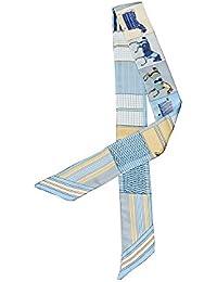 Felix   SiLK Mujer Niña Caballo Rayas Reversible Bufanda Fulares Bufanda de  Cuello Diademas Corbatas Twilly 46e6a712fe7