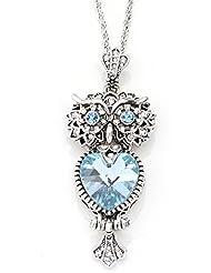diannaoowl Retro larga sección Jersey de cristal cadena colgante joyería Collar, blu ray