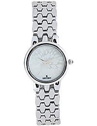 Escort Analog Silver Dial Women's Watch- 4206 SM