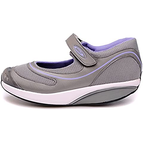 Baridi Silver Walking Shoes Trail Casual Slip On Running Fitness