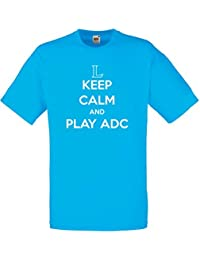 Keep Calm and Play ADC, Mann Gedruckt T-Shirt