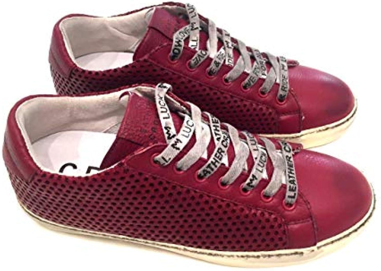 LEATHER CROWN MEN MEN MEN scarpe SCARPA UOMO MODELLO MLC083 BORDEAUX MISURA 45 INVERNO 2017 | prezzo di vendita  | Gentiluomo/Signora Scarpa  a7ede3