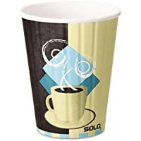 Solo Duo Shield Hot Insulated 12oz Paper Cups, Beige, 600/Carton IC12 by SOLO Cup Company