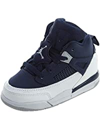 best service 57c6c b138a Nike Pre School Air Jordan Spizike BP Black Cement Black White Red (4 M US  Little Kids, Midnight Navy Metallic…
