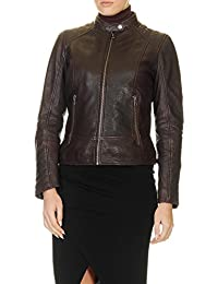 Oakwood Women's Gum Women's Burgundy Leather Jacket 100% Leather