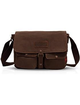 FANDARE Retro Messenger Bag Umhängetasche Schultertasche Laptoprucksäcke Tasche Kuriertasche Multifunktions Canvas