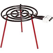 La Ideal Quemador de gas profesional, diseño de anillo, 90cm, color negro