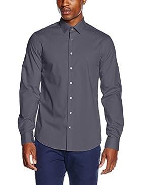 Calvin Klein K3EK300077, Camicia Formale Uomo, Herren Business Hemd Bari Slim Fit