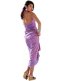 Sarong cache-maillot de bain rose avec motif floral pour femmes de 1 World Sarongs