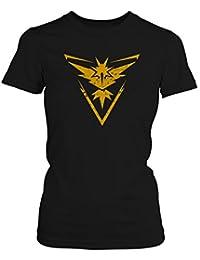 Fashionalarm Damen T-Shirt - Team Intuition | Fan Shirt Team Gelb Poke Go Game