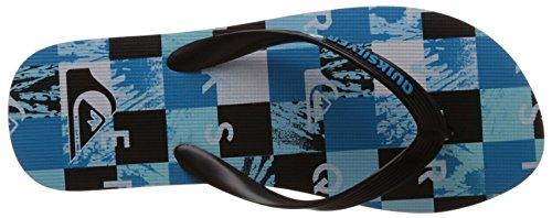 Quiksilver Molokai Check R M Sndl Xkbw Herren Zehentrenner Blau - Bleu (Black/Blue/White)