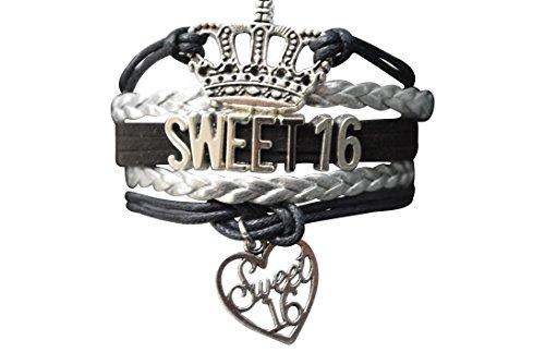 Sweet 16Armband Mädchen Sweet 16Schmuck-Perfekt Geburtstag Geschenk für Mädchen