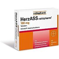 HerzASS-ratiopharm 100 mg Tabletten, 100 St. preisvergleich bei billige-tabletten.eu