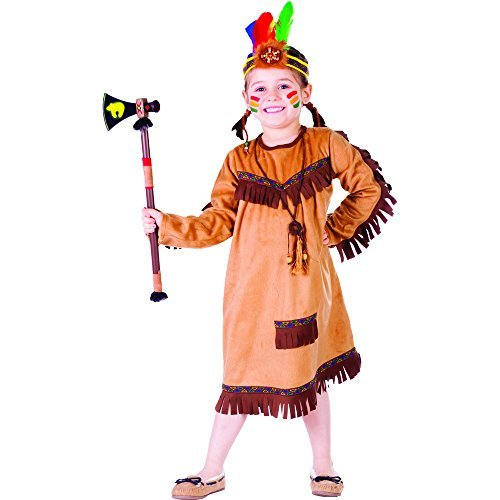 Brave Indian Girl Costume By Dress Up America - Size Small 4-6 by Dress Up ()