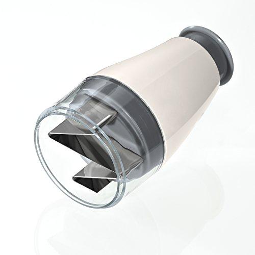 Lurch Minihacker für Knoblauch, Kunststoff, Iron Grey/Weiß, 7 x 7 x 10 cm