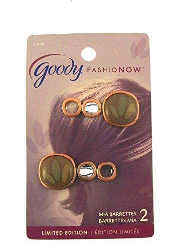 Design feuilles marron 2Pince à cheveux GRIPS Lames Stay Put